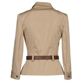 Dior-Saharienne Dior veste bar-Beige