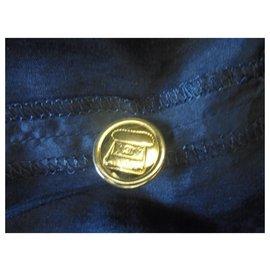 Chanel-Jupe Chanel lux en Lin avec deux boutons bijoux sac main doublure soie-Noir