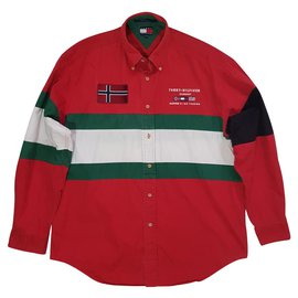 Tommy Hilfiger-chemises-Rouge,Multicolore,Vert