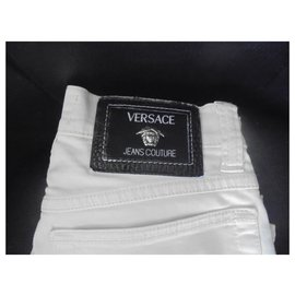 Gianni Versace-Versace jeans Couture taille haute-Beige