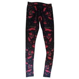 Alexander Mcqueen-Pantalons, leggings-Multicolore