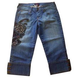 Kenzo-Retero Jeans Kenzo..Coupe demi jambe-Bleu clair