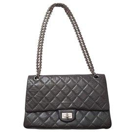 Chanel-Chanel 2.55 Reissue 50th Anniversary Grey Handbag 226.-Grey