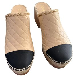 Chanel-Clogs-Beige