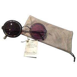 Christian Dior-Lunettes de soleil vintage Christian Dior années 90-Argenté
