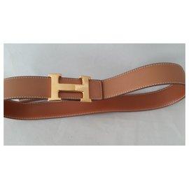 Hermès-H 2 Boucles-Marron clair