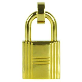 Hermès-Boucle de ceinture cadenas-Doré