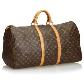 Louis Vuitton-Louis Vuitton Keepall Monogram Brown 60-Marron