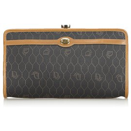 533eadf602 Dior-Dior Black Honeycomb Coated Canvas Clutch Bag-Brown,Black,Light brown  ...