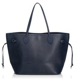 Louis Vuitton-Louis Vuitton Blue Epi Neverfull MM-Bleu,Bleu foncé