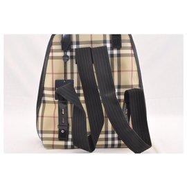 Burberry-Burberry Nova Check Backpack-Cream