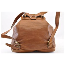 Gucci-Gucci Backpack bamboo-Brown