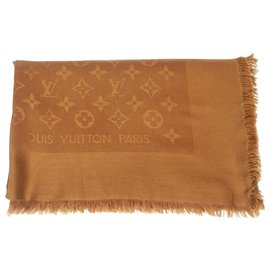 Louis Vuitton-Écharpe Louis Vuitton Shine-Marron