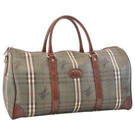 Burberry-Burberry Nova Check Travel Bag-Green