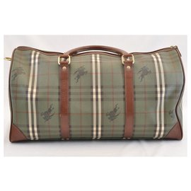 Burberry-Burberry Nova Check Travel Bag-Green