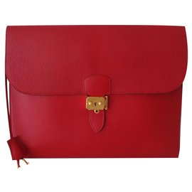 Hermès-HERMES DOCUMENT HOLDER-Red