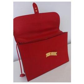 Hermès-PORTE-DOCUMENTS HERMES-Rouge