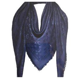 Louis Vuitton-Écharpe monogramme-Bleu