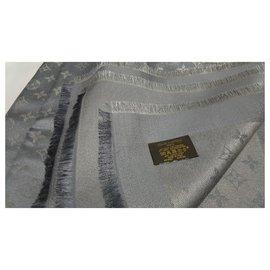 Louis Vuitton-Écharpe monogramme-Gris