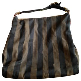 Fendi-vintage Fendi shopping bag-Brown