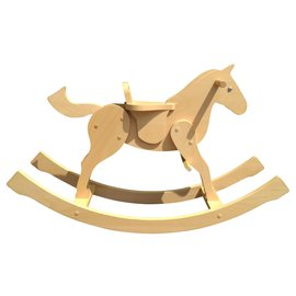 Hermès-Hermès Rocking Horse in Beechwood Kids Toy-Beige