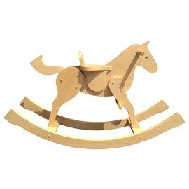 Hermès-Hermès Véritable cheval à bascule en Bois de Hêtre-Beige