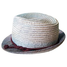 Etro-chapéu-Azul,Cinza