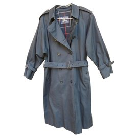 Burberry-vintage Burberry trench 40/42 Navy blue color-Navy blue
