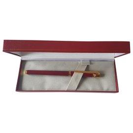 Cartier-Trinity 3 rings-Golden,Dark red