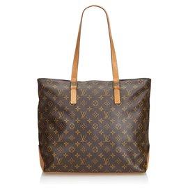Louis Vuitton-Louis Vuitton Cabas Monogram Marron Mezzo-Marron