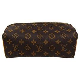 Louis Vuitton-Louis Vuitton Brown Monogram Trousse Patte-Pression Toiletry Pouch-Brown