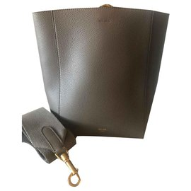 Céline-Celine Bucket Strap Bag Brand New-Taupe
