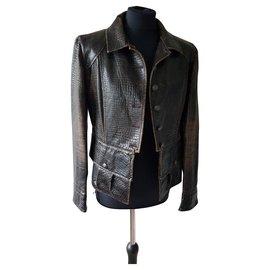 Chanel-Jackets-Dark brown