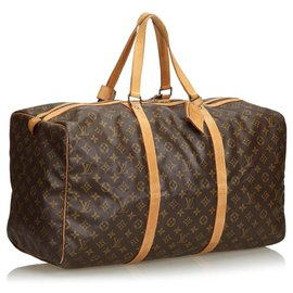 Louis Vuitton-Louis Vuitton Monogramme Sac Souple Marron 55-Marron
