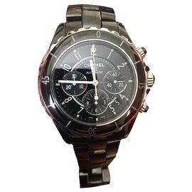 Chanel-J12 Chronograph-Black
