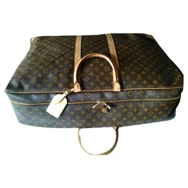 Louis Vuitton-LOUIS VUITTON SIRIUS SOFT-CASE Toile Monogram & cuir-Marron