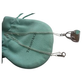 Tiffany & Co-Pendant (charm) Handbag in sterling silver and enamel from Tiffany & Co.-Silvery,Blue