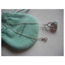 Tiffany & Co-Pendentif (charm) Sac à main en argent massif et émail de chez Tiffany & Co.-Argenté,Bleu