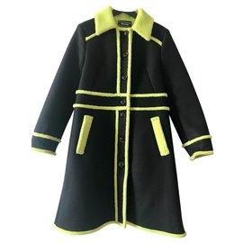 Moschino-Manteau d'hiver Moschino-Noir,Vert clair