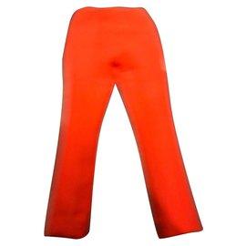 Prada-Prada, Prada pants in wool and silk orange 40 IT-Orange