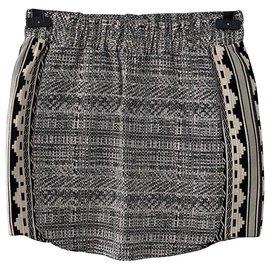 Heimstone-Mini jupe taille haute écru et noire heimstone-Noir
