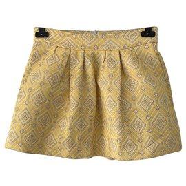 Zara-Jupe jaune taille haute jaune-Jaune