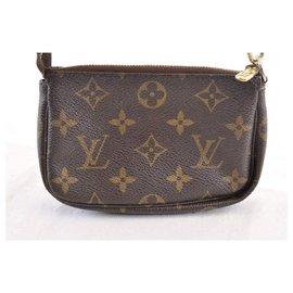 Louis Vuitton-Accessoires Mini Pochette Louis Vuitton-Marron