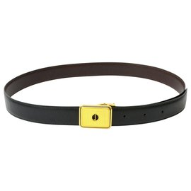 Alfred Dunhill-Dunhill Leather Belt-Noir