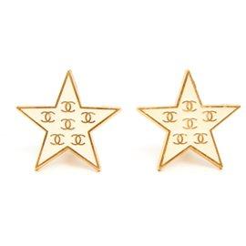 Chanel-BEIGE CC STARS-Beige,Golden