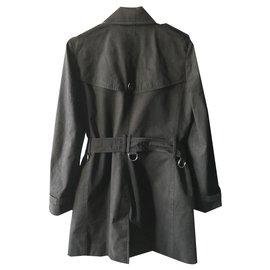 Burberry-Burberry black trench coat-Black,Beige