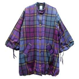 Céline-Manteaux, Vêtements d'extérieur-Vert,Violet