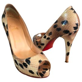 Christian Louboutin-Very private-Black,Beige