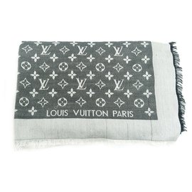 Louis Vuitton-Écharpe Louis Vuitton Shine-Gris