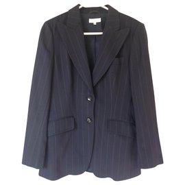 Autre Marque-Tailleur pantalon rayures-Bleu Marine